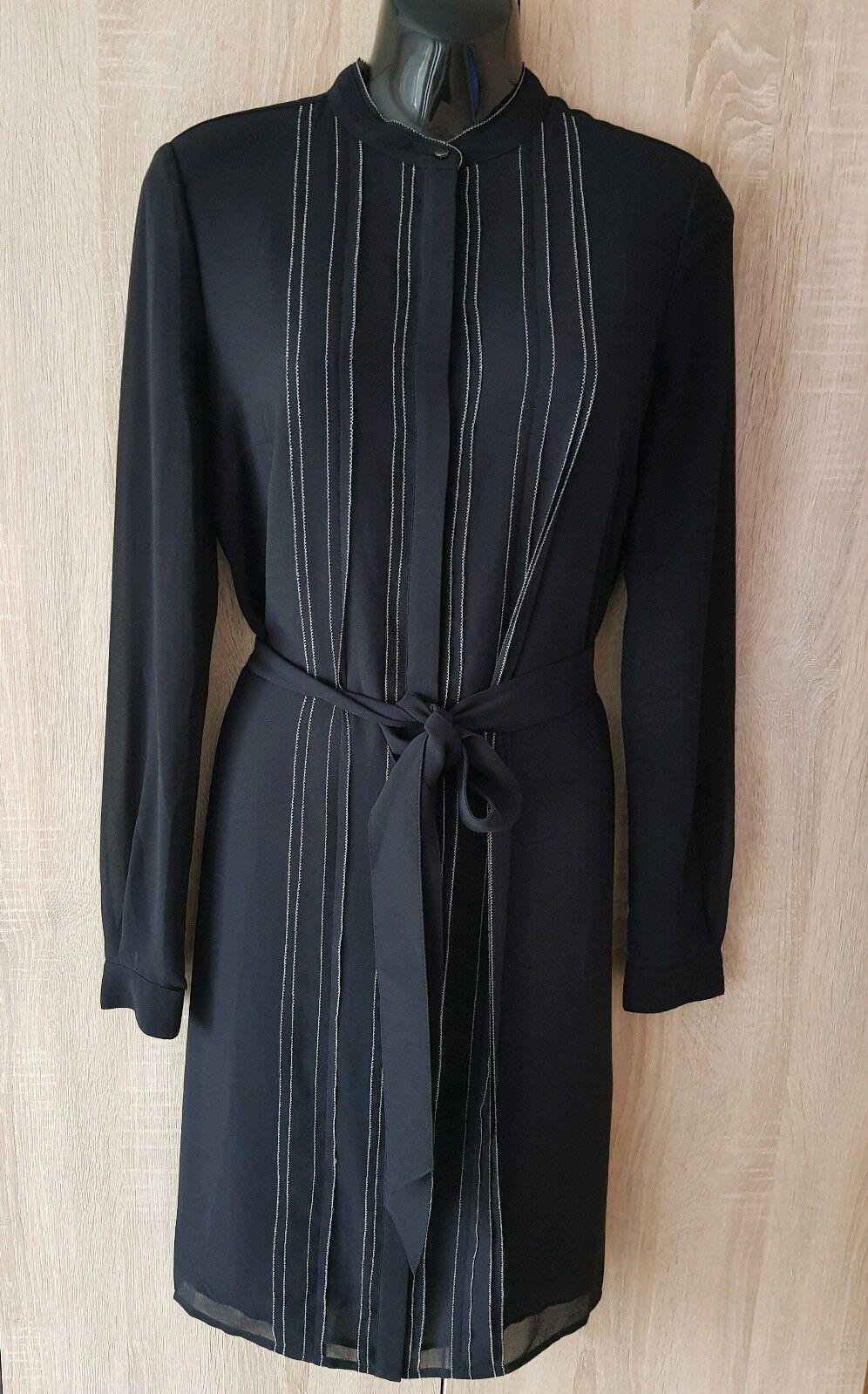 Belle Fête Soirée Femme REISS robe noire UK 8 US 4 EU 36
