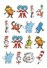 1x Dr Seuss Cat In The Hat Temporary TATTOO Sheet. Party Supplies Lolly Bag