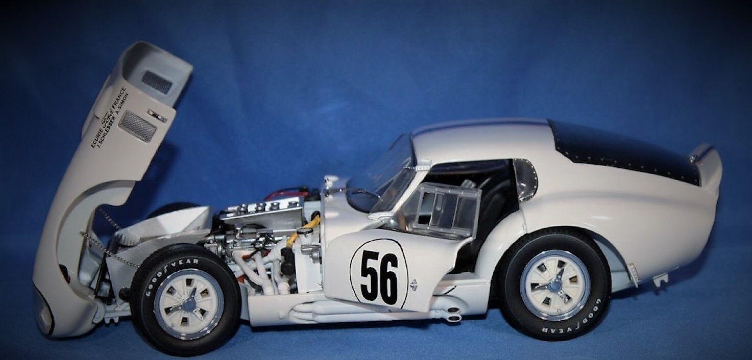 Daytona GT Ford Cobra Vintage 1966 Shelby SPORT RACE CAR 1 18 carrusel blancoo 40