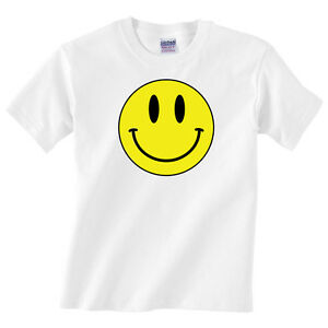 Smiley Face Infant Shirt Sizes 3-24 Months Happy Baby Tee Kids Smile Tshirt