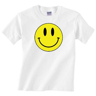 Kids Boys or Girls Happy Smile Fun Tee Children/'s Smiley Face T Shirt