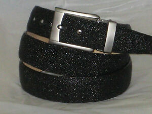 Details about MENS GENUINE AUTHENTIC BLACK STINGRAY BELT
