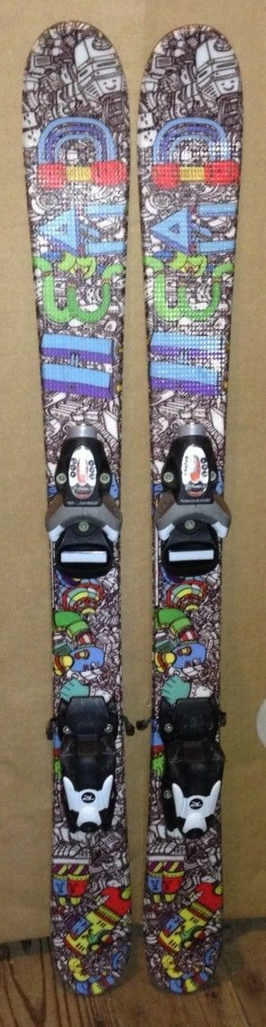 97 cm Head Mojo junior skis  bindings + kids size 11 Nordica boots  excellent prices