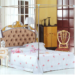 Stainless-Steel-Hold-Mosquito-Nets-Bracket-Post-Frame-Bedding-All-Sizes