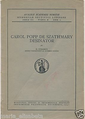 Romania Szathmary Carol Popp de Szathmari Drawings Photo Brochure 1941