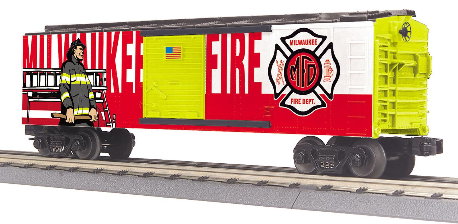 MTH RailKing Trains 30-74996 Milwaukee Fire Dept Box Car O Gauge