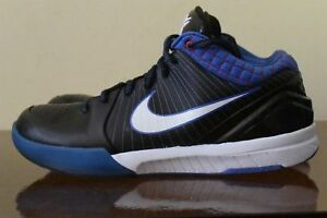 size 40 f38da a2080 Image is loading Nike-Zoom-Kobe-4-IV-Black-White-Blue-