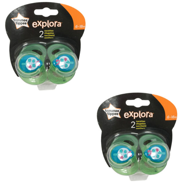 TOMMEE TIPPEE Explora 6-18 month Baby Boy 2x BPA Free Latex Cherry Teat Soother