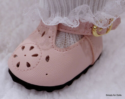 """PINK T-Straps DOLL DRESS SHOES fits American Girl 15/"""" BITTY BABY /& TWINS DOLL"""