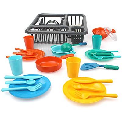 27 Pcs Pretend Play Kitchen Set For Kids Kitchen Toys Tableware