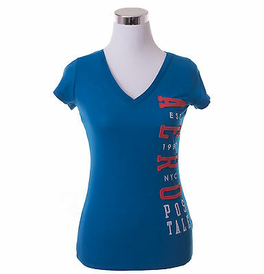 Aeropostale Women Casual Solid V-Neck Graphic T Shirt Style 4247-Free $0 Ship