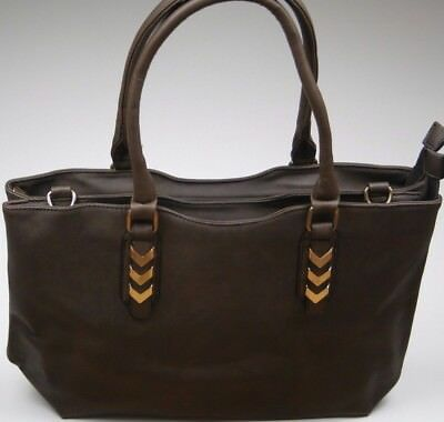 Damenhandtasche Umhängetasche in Lederoptik Schwarz, dunkelgrau, braun