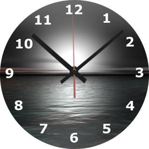 Horloge murale mer 25 cm Mono Apaisant Horloge Mobilier Décoration Maison Décoration À faire soi-même 593