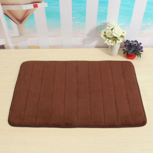 Microfibre Memory Foam Bathroom Shower Bath Mat With Non Slip Back 11 Colors