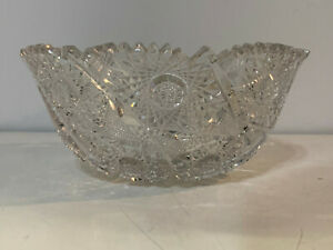 Antique-American-Brilliant-Period-ABP-Cut-Glass-Bowl