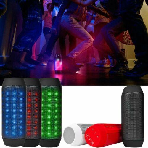 Tragbarer Bluethooth Bazooka Mobiler Lautsprecher LED Soundstation Soundbox AUX