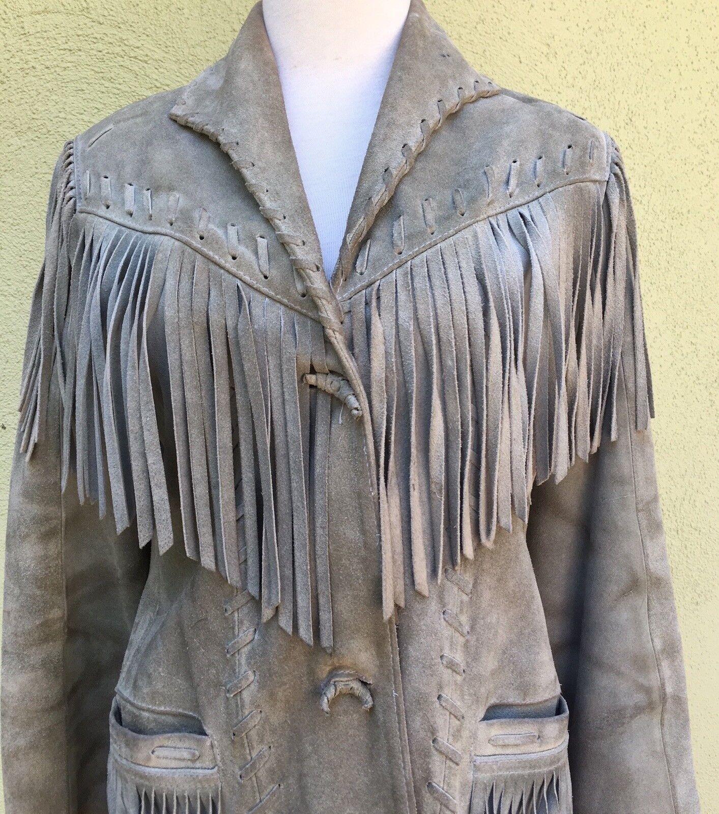 Vintage Western Fringed Leather Jacket - image 2