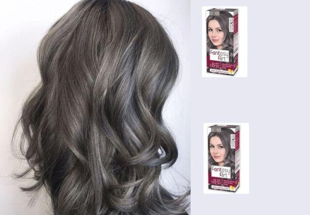 Dark Ash Hair Dye Up To 8 Weeks Lasting Grey Effect Fantasy Flirt 133 Free P