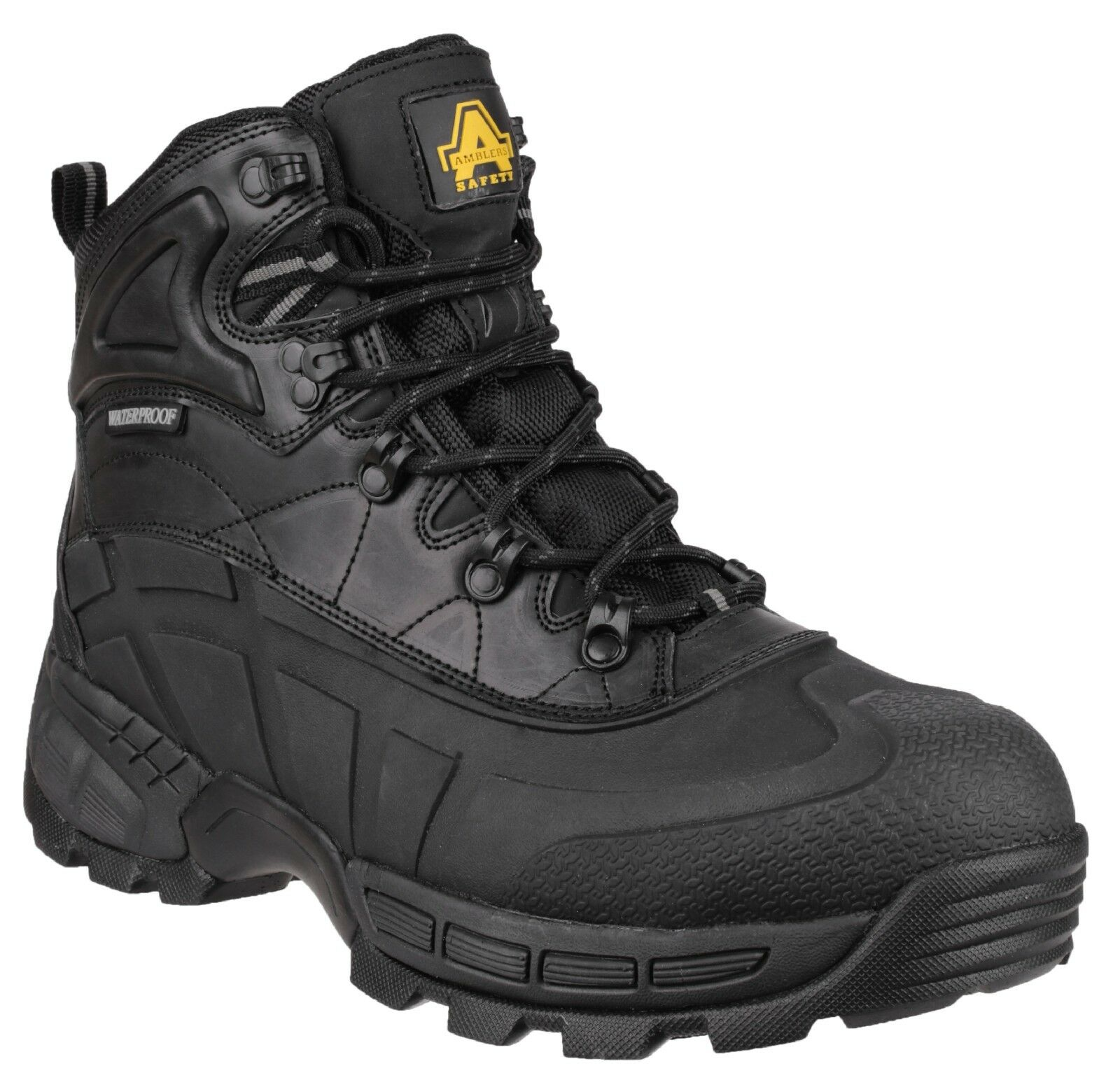 Amblers FS430 Orca S3 Waterproof Safety Work Boots Black 6-12 Lightweight