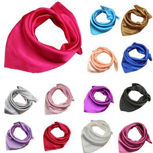 Women-Party-Soft-Silk-Square-Scarf-Bandana-Neckerchief-Head-Neck-Wrap-Scarves