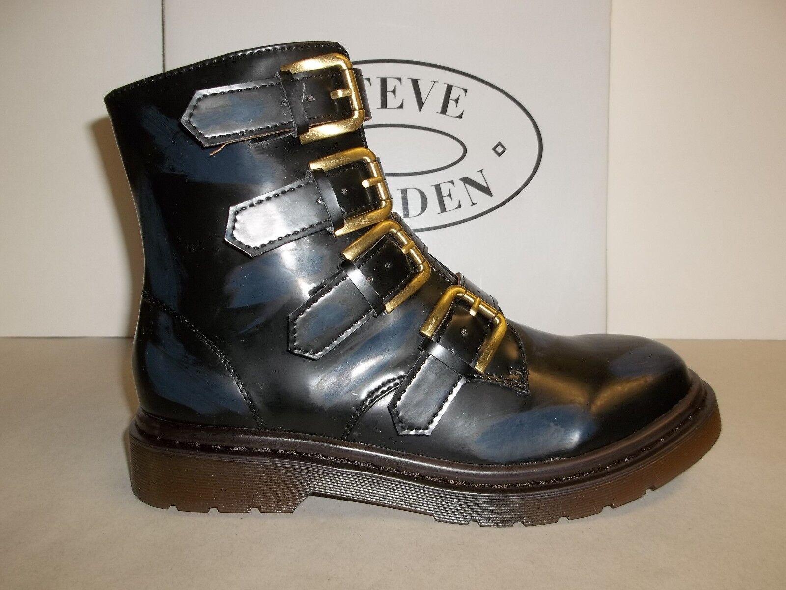Steve Madden Größe 7 M MCBETH Navy Splashes Fashion Ankle Stiefel NEU Damenschuhe Schuhes