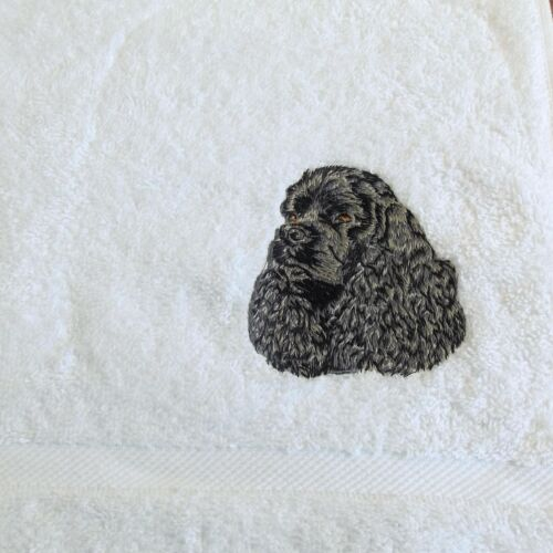 Embroidered Personalised Towels and Tea Towels Dog Towel Cocker Spaniel 31
