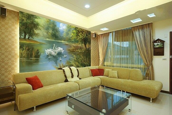 3D Swans Lake Forest 8 Wall Paper Murals Wall Print Wall Wallpaper Mural AU Kyra