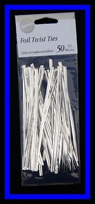 """Baking Accs. & Cake Decorating Wilton **5"""" Silver Twist Ties 50 Ct** Nip #2063 Good For Antipyretic And Throat Soother Kitchen, Dining & Bar New"""