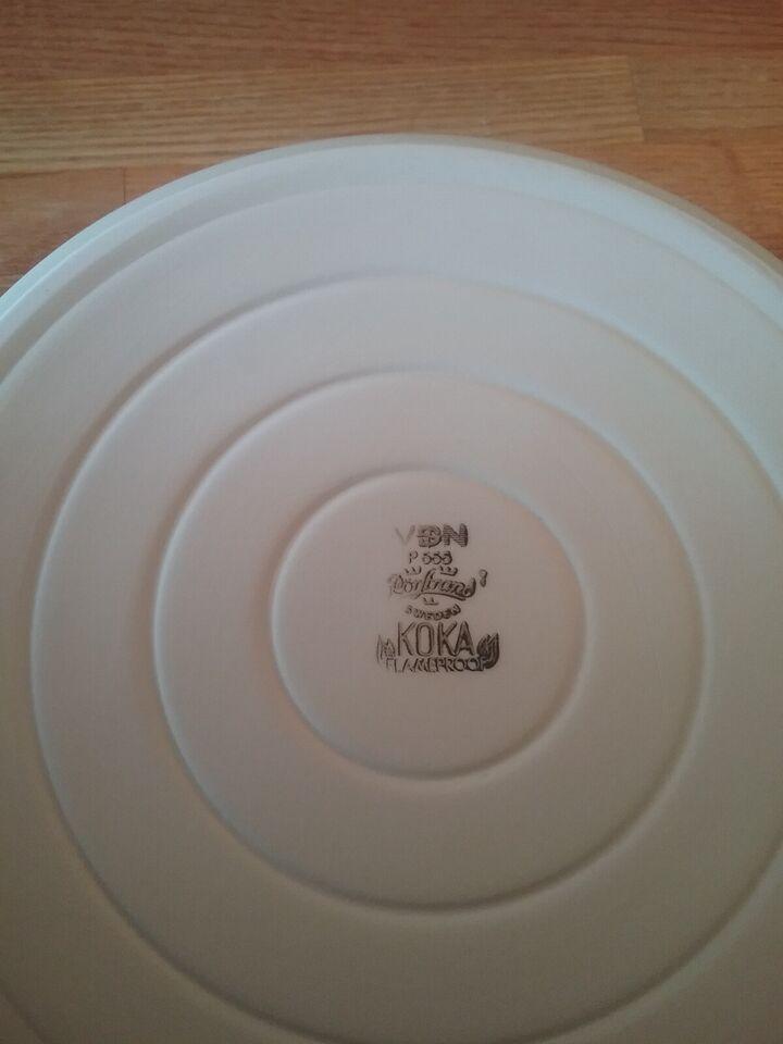 Porcelæn, Sildeskål, flødekande
