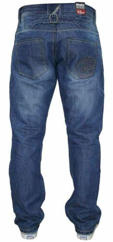 Enzo Homme Denim Jeans Coupe Droite Regular Fit Pantalon Pantalon Toutes Les Taille Tailles