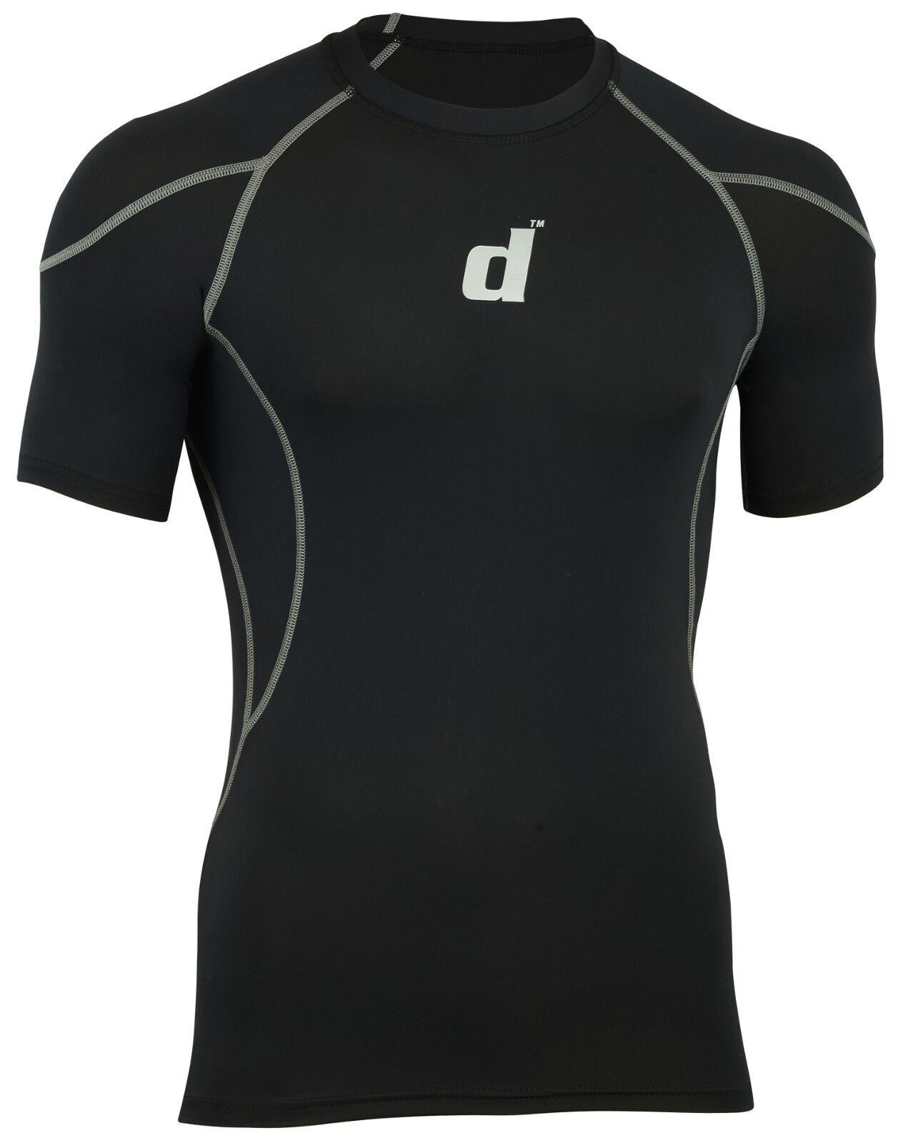 Didoo New Men/'s Compression T Shirts Sportswear Jerseys Training Striped Fitness