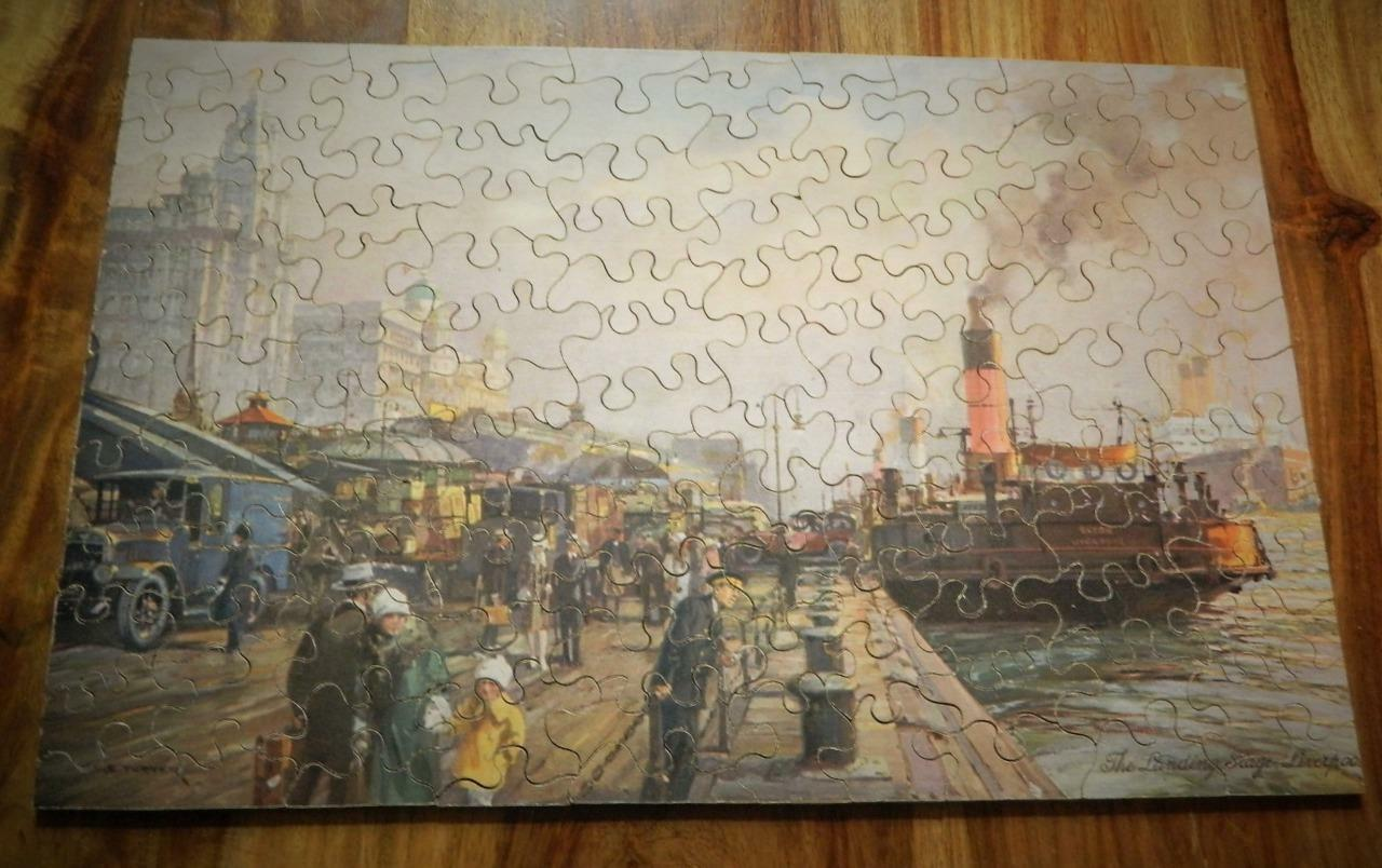 CHAD VALLEY 1938 COMPLETE DUNLOP WOODEN JIGSAW PUZZLE LIVERPOOL LANDING STAGE