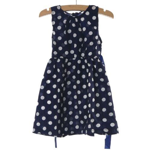 Vntage Kids Children Clothing Polka Dot Girl Chiffon Sundress Dress Cuddly CB