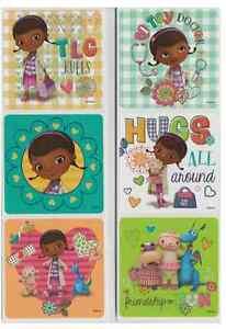 5 Doc McStuffins Stickers Party Favors