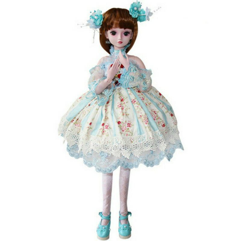 60cm bjd bambola 1 3 Beauty Girl BAMBOLE CON  VOLTO Il Trucco Parrucca Abito Sautope Set Completo  comprare a buon mercato