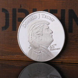 United State Donald J. Trump 45th President Silver Plated Round Coin US