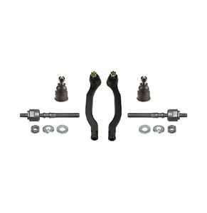 6 pc Suspension Kit for Honda Accord 90-93 All Models Inner /& Outer Tie Rod Ends