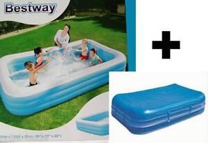 Bestway-Family-Pool-Familienpool-Planschbecken-305-x-183x56-mit-Abdeckplane