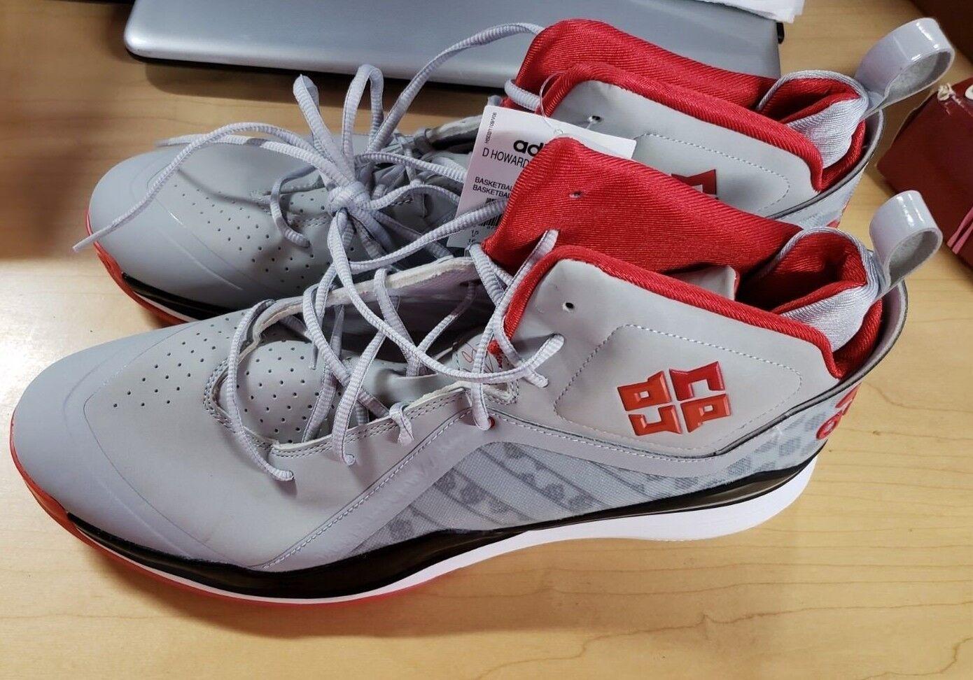 Adidas d howard 5 scarpe da 16 basket - uomo numero 16 da - grigio - rosso - nero 63a9e8
