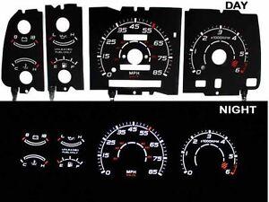 91-94-Ranger-w-RPM-Black-White-Indiglo-Glow-El-Gauges