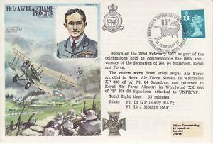 GB-Stamps-RAF-Souvenir-Cover-Flt-Lt-AW-Beauchamp-Proctor-No-84-Squadron-1977
