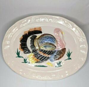 Vintage-Large-18-034-Thanksgiving-Hand-Painted-Turkey-Serving-Platter-Made-in-Japan