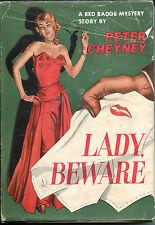 Lady, Beward by Peter Cheyney-US HC Edition in Dust Jacket-1950