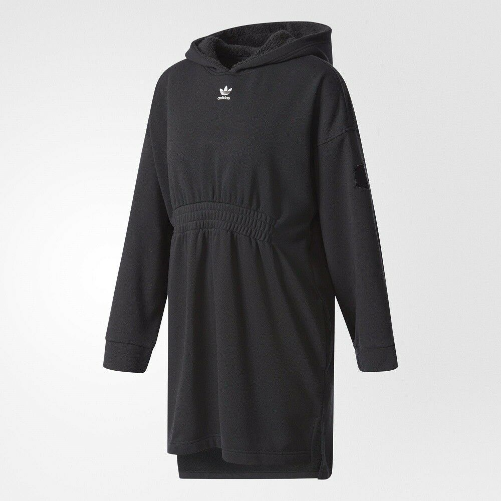 Adidas Women Originals Hooded Lettering Sweat Dress