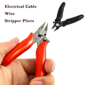 Eléctrico Cable Cortador Corte Diagonal Alicates Wire Estriptista Tool 3.5 inch