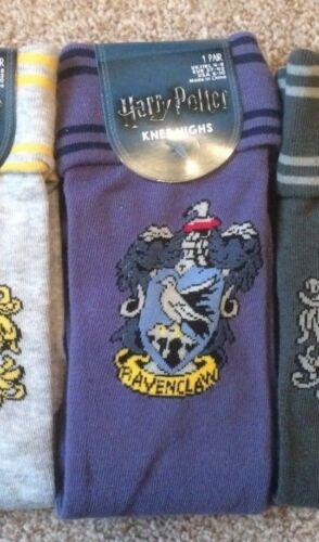 Harry Potter Women/'s Knee High Socks Ladies Slytherin or Hufflepuff Primark