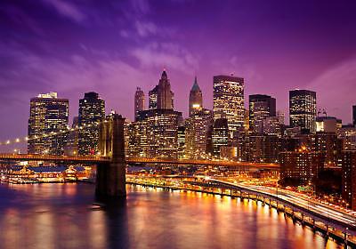fototapete new york bei nacht fototapeten wandbild motivtapeten vlies tapete ebay