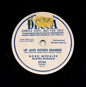 NORO-MORALES-and-his-Orchestra-on-E-1951-Decca-27766-Up-and-Down-Mambo