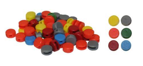 Plomben Kunststoffplomben 8 mm Beutel mit 500 Stück lieferbar in 6 Farben