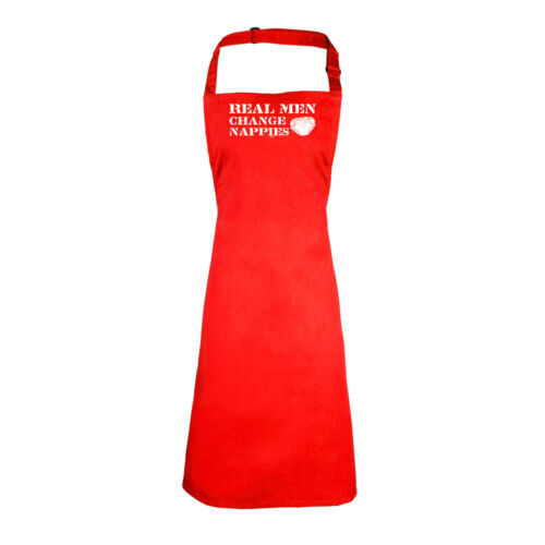Real Men Change Nappies Funny Novelty Apron Kitchen Cooking